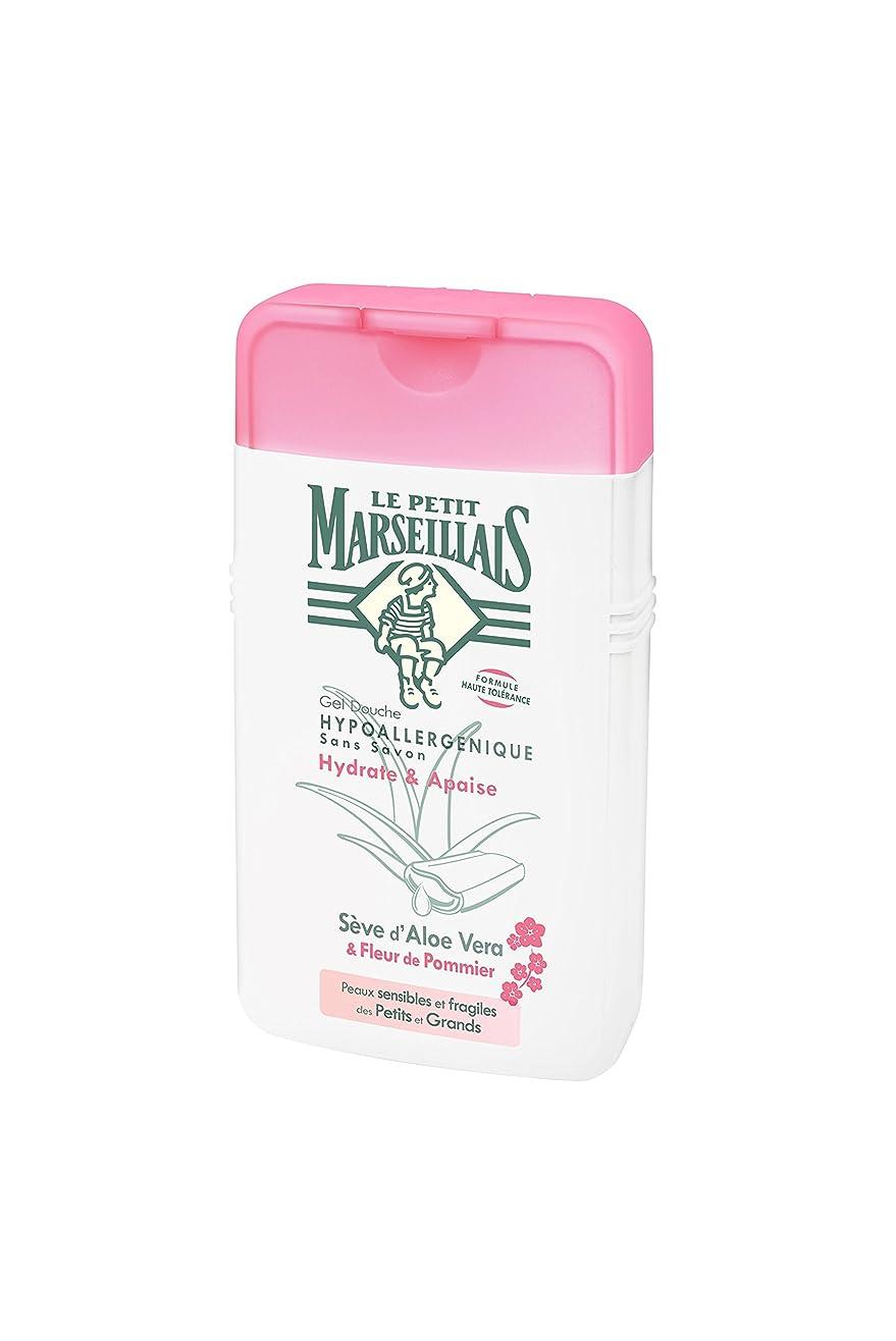 嫌悪英語の授業があります寛容「アロエベラ」と「リンゴの花」 石鹸不使用 低刺激 敏感肌用 中性 ミセルシャワージェル フランスの「ル?プティ?マルセイユ(Le Petit Marseillais)」250ml ボディウォッシュ
