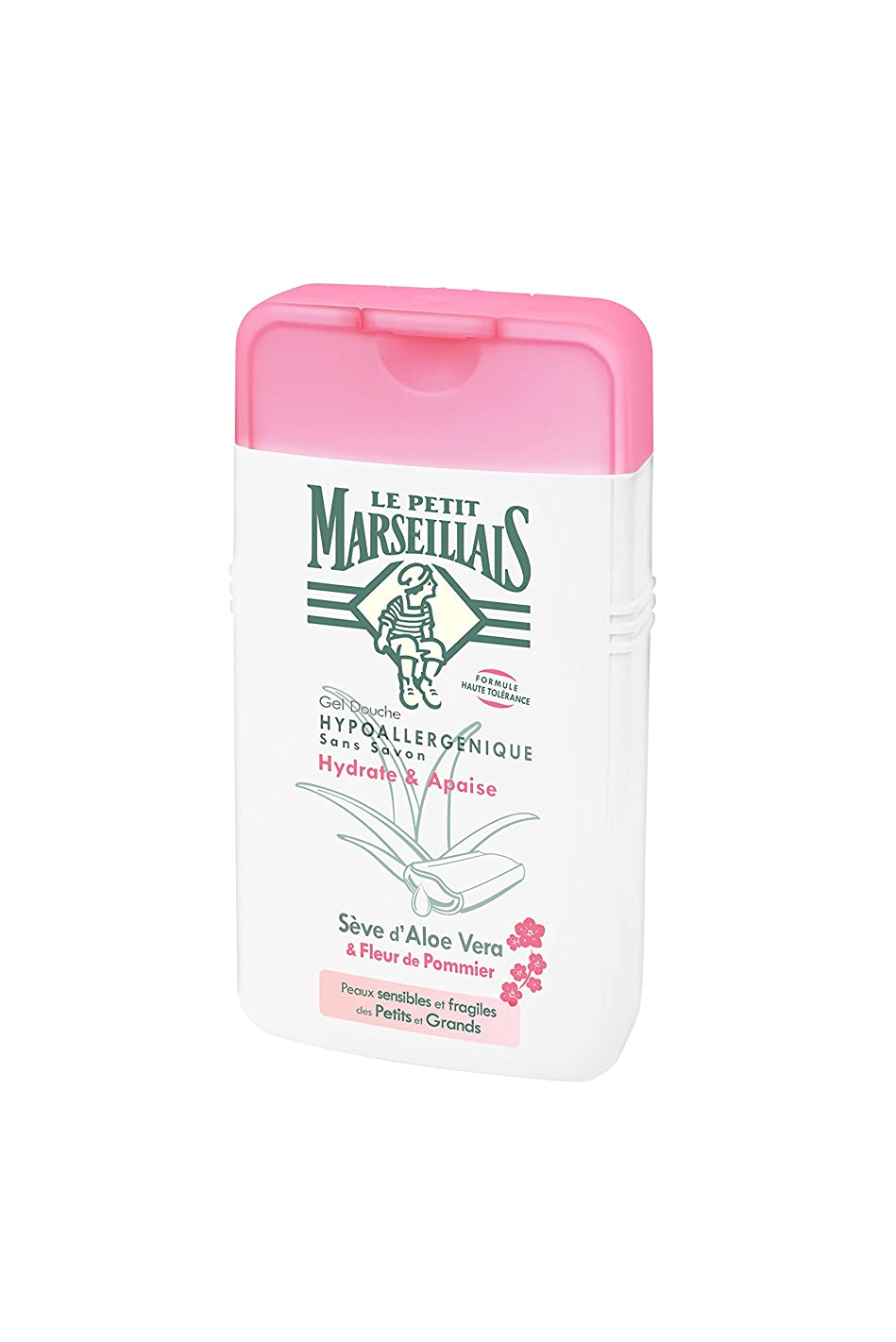 冷酷な頑張るスタウト「アロエベラ」と「リンゴの花」 石鹸不使用 低刺激 敏感肌用 中性 ミセルシャワージェル フランスの「ル?プティ?マルセイユ(Le Petit Marseillais)」250ml ボディウォッシュ