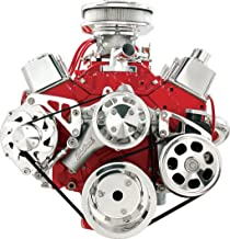 Billet Specialties FM2122PC Long Water Pump Serpentine Conversion Kit for Small Block Chevy