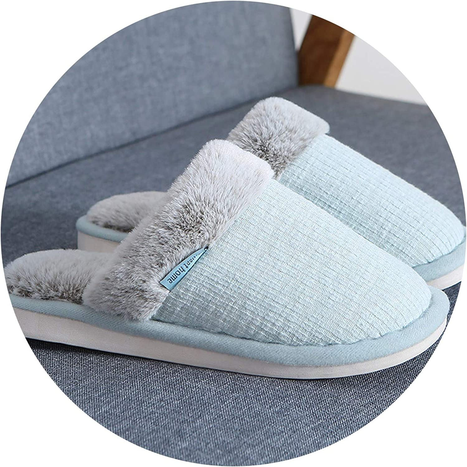 Couple Thick Warm Men and Women Indoor Slippers