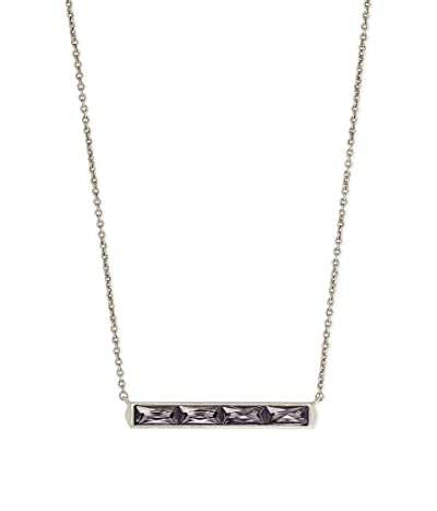 Kendra Scott Jack Pendant Necklace (Rhodium Gray Crystal) Necklace