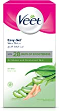 Veet Hair Removal Cold Wax Strips Dry Skin 20 Count
