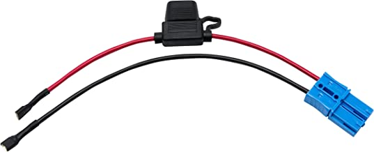 X PWR 12 Volt Battery Wiring Harness for 12V Kid Trax Child Ride On Car Dodge Ram 3500 Disney Mickey Minnie Mouse Coupe Small Blue Plug