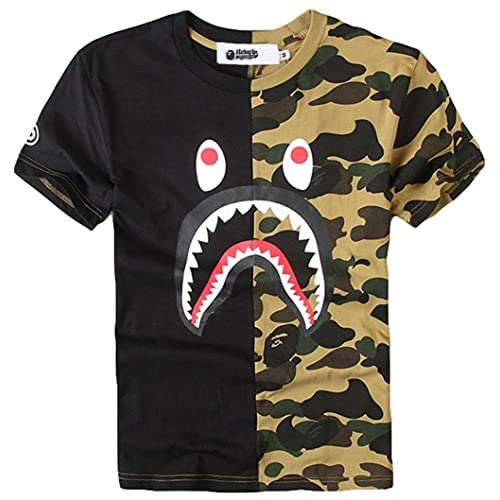 d8b0ce22 Juniors Casual Fashion Crewneck T Shirt Shark Camo Tees Tops for Teens