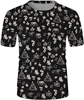 Camiseta de Manga Corta para Hombre Moda 3D Estampado M/úsculo Personalizadas Moda T-Shirt de Verano Cuello Redondo Tops Slim Fit Deportivo Casual MMUJERY