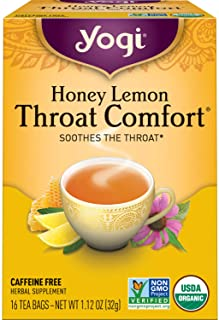 Yogi Tea - Honey Lemon Throat Comfort (6 Pack) - Soothes the Throat - 96 Tea Bags