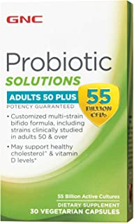 GNC Probiotic Solutions - Adults 50 Plus, 30 Capsules, Digestive and Immune Support