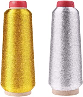spezielle Stickerei Designs 6/verschiedene Farben Metallic Maschine//Hand Stickgarn 200/Meter f/ür je Janome Bruder Pfaff Babylock Singer Bernina Husqvaran und die meisten Home