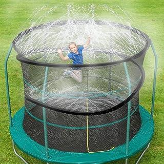 ARTBECK Trampoline Sprinkler, Outdoor Trampoline Water Play Sprinklers for Kids, Fun Water Park Summer Toys Trampoline Accessories ( 39 ft, Black )