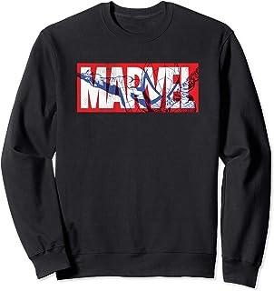 Marvel Logo with Spider-Man Sweatshirt