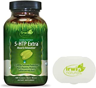 Irwin Naturals 5-HTP Extra Double Potency Mood & Relaxation Seratonin Production Plus L-Theanine, Rhodiola, Saffron & Holy...