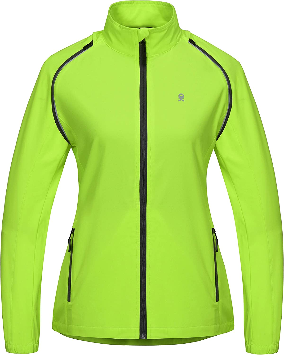 Convertible UPF 50 Little Donkey Andy Womens Quick-Dry Running Jacket Cycling Jacket Windbreaker with Removable Sleeves