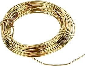 Messingseide Stahlseil Premium 0,5mm - 10 Meter Farbe: gold