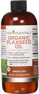 Vita Essentials Organic Flax Seed Oil, 16 Ounce