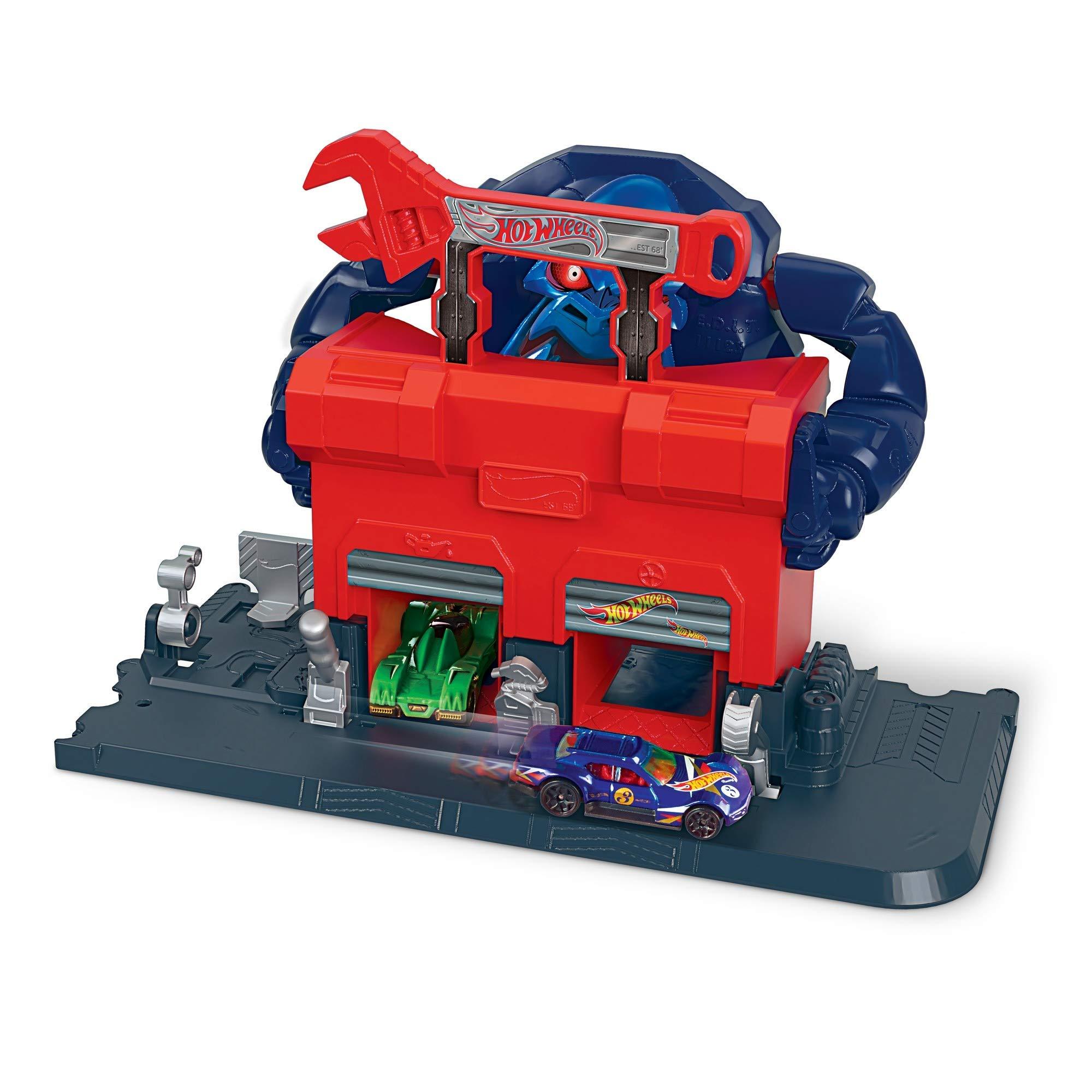 Multi-Colour Hot Wheels FNB06 City Gator Garage Attack Play Set