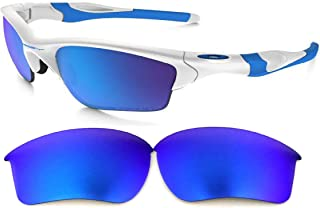 Galaxy Replacement Lenses For Oakley Half Jacket 2.0 XL OO9154 (Not 2.0) Sunglasses Polarized Blue