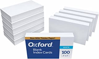 Oxford Blank Index Cards, 3