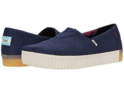 TOMS Alpargata Indio (Navy Crosshatch) Women