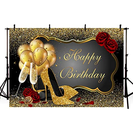 DORCEV 8x5ft Happy 40 Birthday Backdrop Lady Woman Forty Birthday Party Photography Background Dress High Heeled Shoes Leopard Print Theme Lady Birthday Party Banner Adults Photo Studio Props