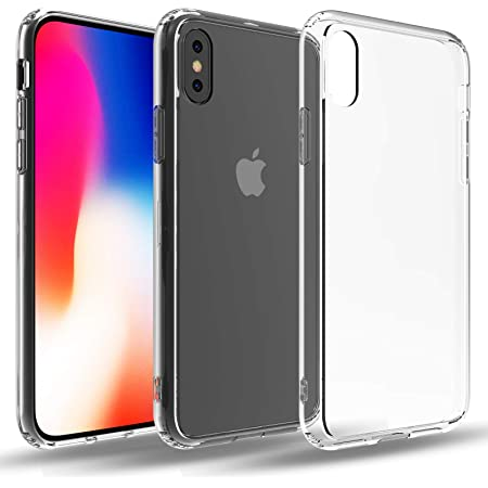 Restoo Designed for iPhone X/XS Clear Case,Crystal Slim-fit Soft TPU with 4 [Shock-Absorption] Corners Case for iPhone X/XS 5.8 inch,Clear