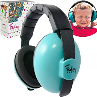 Fridaybaby Baby Ear Protection (0-2+ Years) - Comfortable and Adjustable Noise Cancelling Baby Ear Muffs for Infants & Newborns | Baby Headphones Noise Reduction for Concerts Fireworks Travels (Blue)