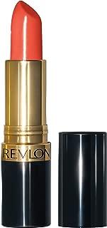 Revlon Super Lustrous Lipstick with Vitamin E and Avocado Oil, Cream Lipstick in Coral, 750 Kiss Me Coral, 0.15 oz