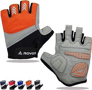 ROVOS Bike Gloves Men/Women Half Finger Breathable Mountain Sports Cycling Gloves