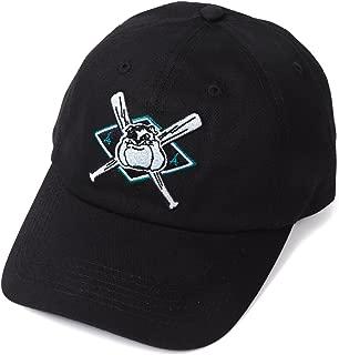 """Tha Alumni Clothing (アルムナイクロージング) ロゴ 6パネル ストラップバックキャップ ブラック""""SLUGGER DAD HAT"""" [並行輸入品]"""