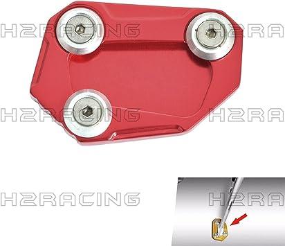 H2racing Rot Motorrad Seitenständer Unterstützung Fuß Verbreiterung Ständer Pad Für S1000r 2014 2015 2016 Auto