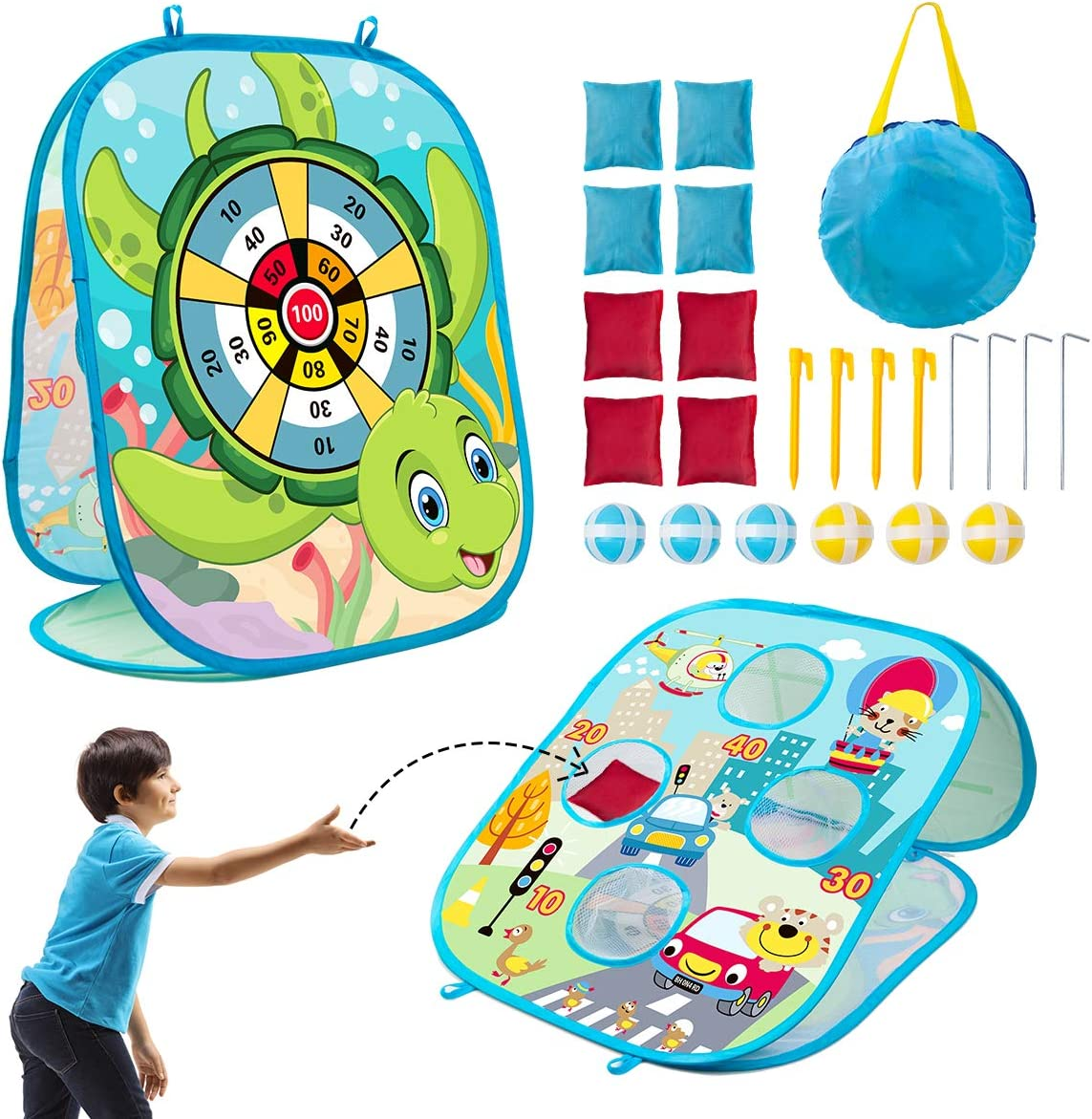 Online limited product 3 in 1 Bean Bag Toss Game Set Outside Gorgeous To for Toys Kids