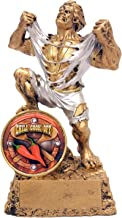 Decade Awards Chili Cook-Off Monster Shield Trophy - Triumphant Beast Chili Cook-Off Award - 6.5 Inch Tall - Engraved Plate on Request