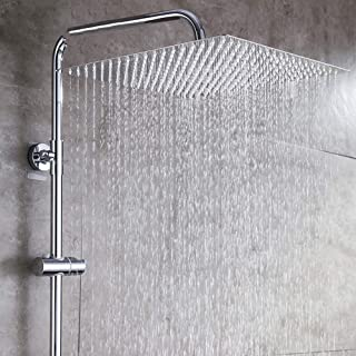KAIQINYS Rain shower head square ceiling rain stainless steel shower rain shower head