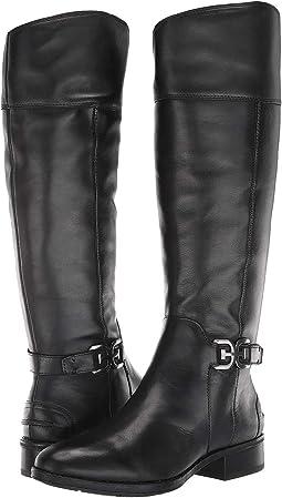 Black Basto Crust Tumbled Leather