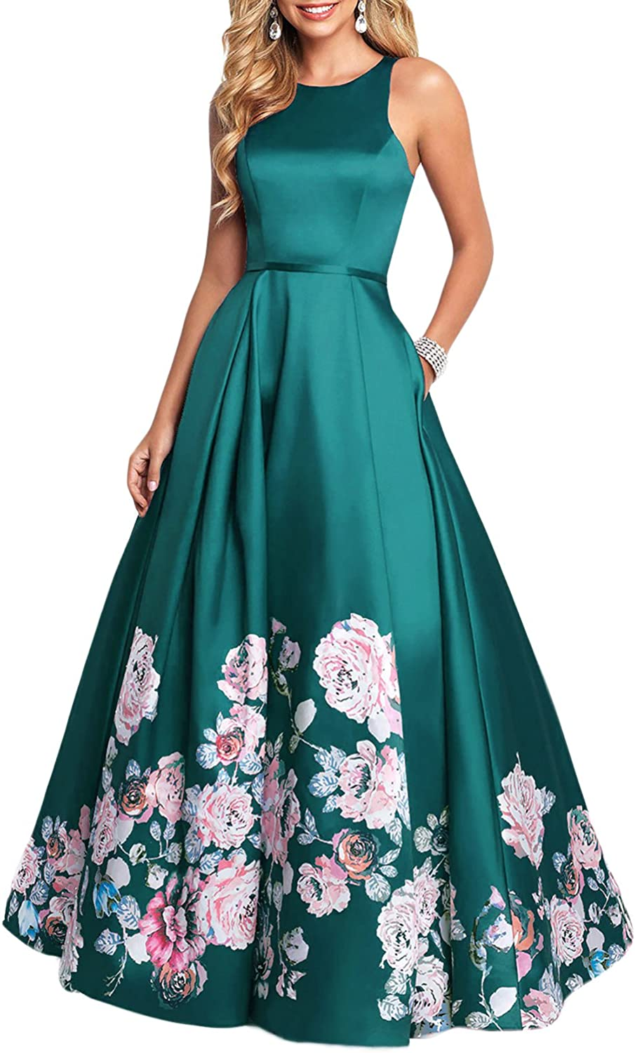 YSMei Women's Print Long Prom Dress Evening Line Yfp03 Inventory cleanup selling sale SEAL limited product A
