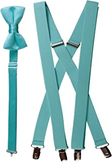 Bow Tie and Suspender Set Combo in Multiple Sizes and Colors