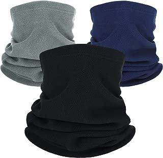 3 Pieces Polar Fleece Neck Warmer Winter Neck Gaiter Windproof Face Mask