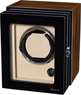 Watch Winder,Mineesi Single Watch Winder for Rolex with Japanese Mabuchi Motor Noble Wood Rotating Watches Display Box by ...