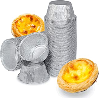 Ramekins Muffin Cups(300PCS),Disposable Baking Cups,Aluminum Foil Egg Tart Pie Tins Pans Molds For Baking