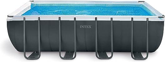 طقم حمام السباحة المستطيل من انتكس 45 سم × 23 سم × 132 سم، متعدد الألوان