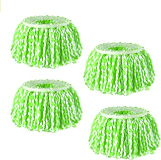 4 Packs Spin Mop Head Replacements, Universal Microfiber Easy Cleaning Spin Mop Head Refills for Wet, Dry Using, Compatible with 360 Degree Magic Mop