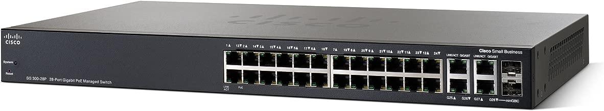 Cisco SG300-28P 28-port Gigabit PoE Managed Switch (SRW2024P-K9-NA)