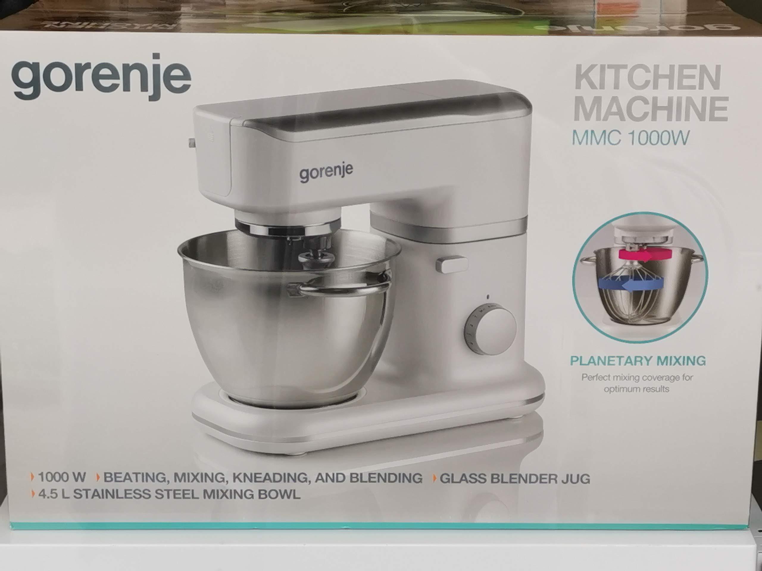 Gorenje MMC1000W 1000W 4.5L Blanco - Robot de cocina (4,5 L, Blanco, Giratorio, 1 m, AC, Acero inoxidable): Amazon.es: Hogar