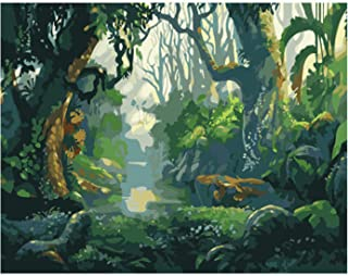 YYDD Paint By Numbers Kits DIY Art Oil Painting Acrylic Paints Nature Landscape Kids Painting Kit Artwork Without Frames,S...
