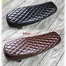 Motorcycle Flat Brat Saddle Cafe Rfor Acer Vintage Seat Cushion Stylish Rhombus