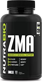 NutraBio ZMA Supplement - 90 Capsules