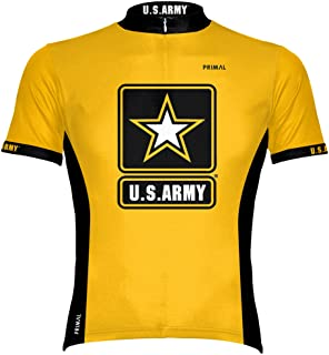 Primal Wear U.S. Army Cycling Jersey Men`s Large Short Sleeve USA Military