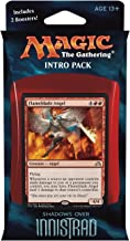 Magic the Gathering: MTG Shadows over Innistrad: Intro Pack / Theme Deck: Angelic Fury (includes 2 Booster Packs & Alternate Art Premium Rare Promo) White / Red - Flameblade Angel