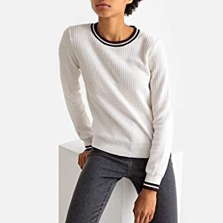 La Redoute Collections Womens Sporty Crew Neck Fine Knit Jumper/Sweater