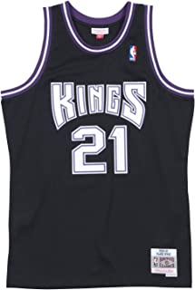 Vlade Divac Sacremento Kings Mitchell and Ness Men's Black Throwback Jesey