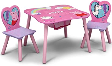 Delta Children Kids Table & Chair Set with Storage (2 Chairs Included) - Ideal for Arts & Crafts, Snack Time, Homeschoolin...